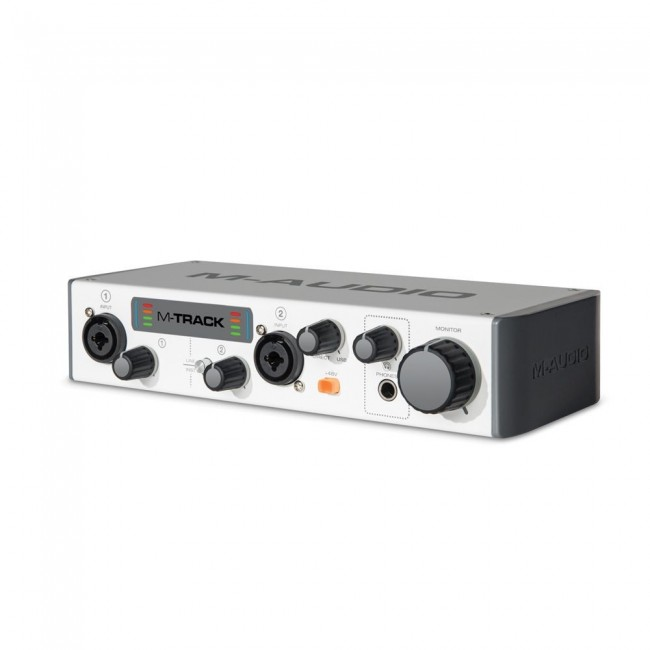 M-Audio MTRACKII | Interfaz de Audio USB de 24-bit/48kHz