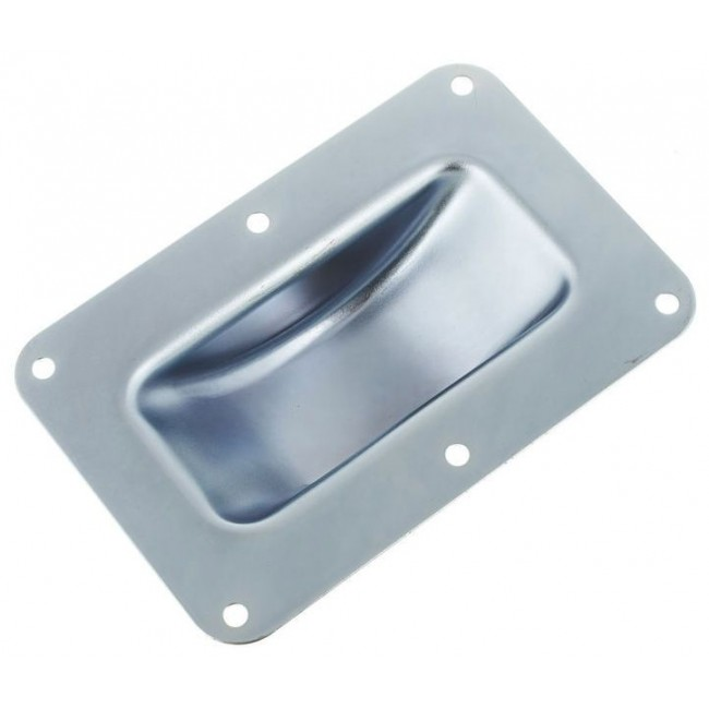 Adam Hall 38083 | Base Empotrable de Acero Galvanizado para Rueda 100mm